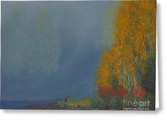 October On The River Greeting Card