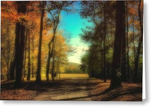 October Path Greeting Card