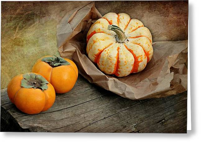 October Produce Greeting Card by Diana Angstadt