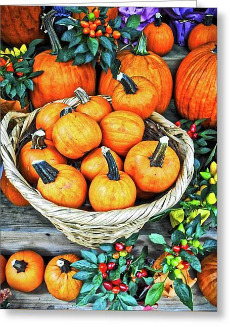 October Pumpkins Greeting Card