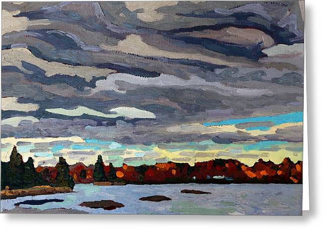 October Sky 2014 Greeting Card by Phil Chadwick