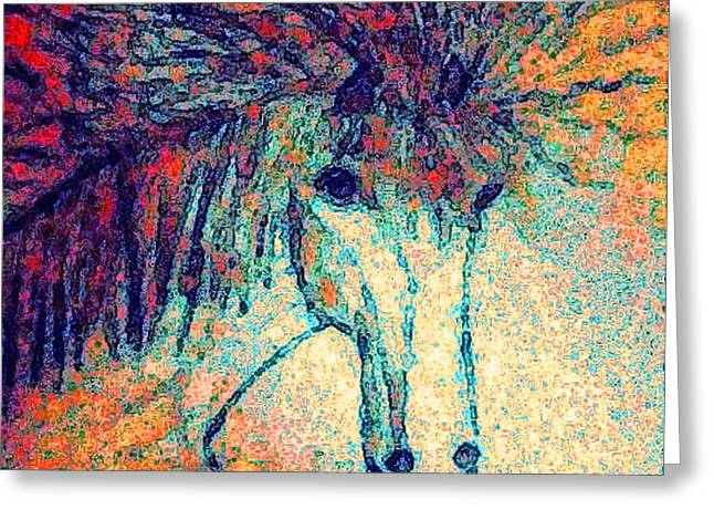 October Spectra Greeting Card by Holly Martinson