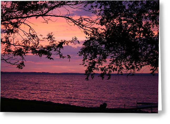 Greeting Card featuring the photograph October Sunrise On Winnebago by Jack G  Brauer