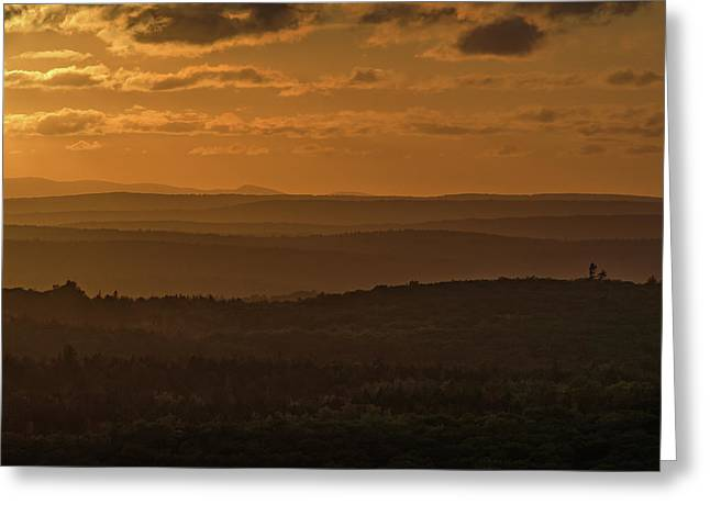 October Sunset In Acadia Greeting Card