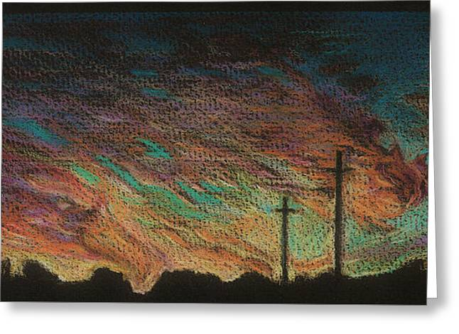 October Sunset Greeting Card by Jeff  Blevins