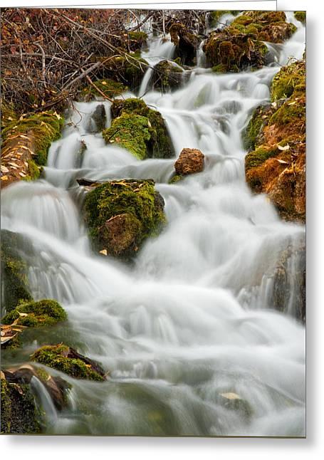 October Waterfall Greeting Card