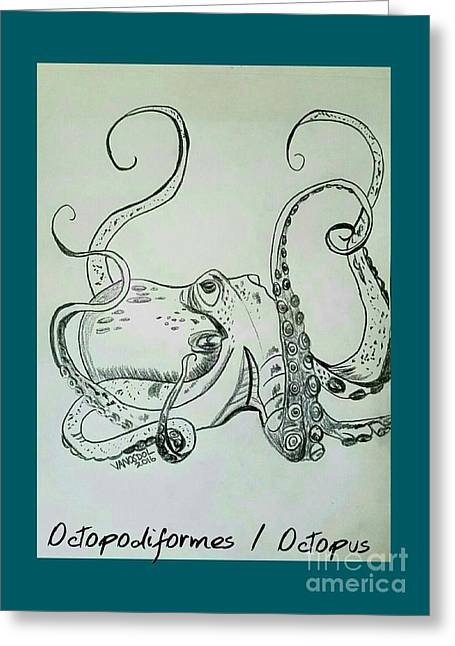 Octopodiformes Octopus Greeting Card by Scott D Van Osdol