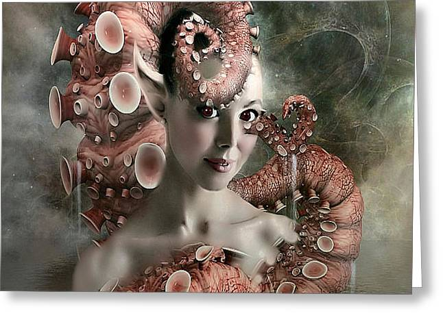 Octopus Beauty Greeting Card