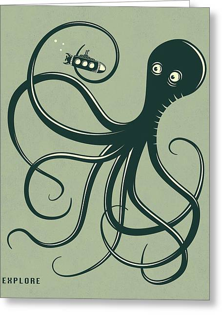 Octopus Greeting Card by Jazzberry Blue