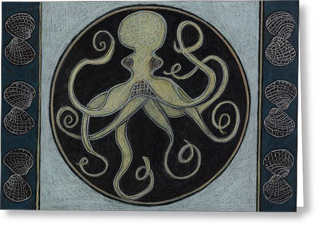 Octopus Spirit Animal Mandala  Greeting Card