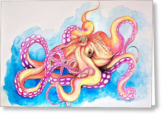 Octopus Greeting Card by Shayla Tansey