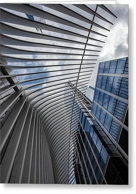 Oculus Center And High Rise Greeting Card by Robert Ullmann