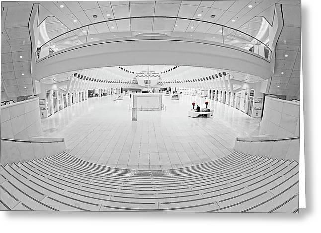 Oculus Transit Hub Wtc Concierge Greeting Card by Susan Candelario