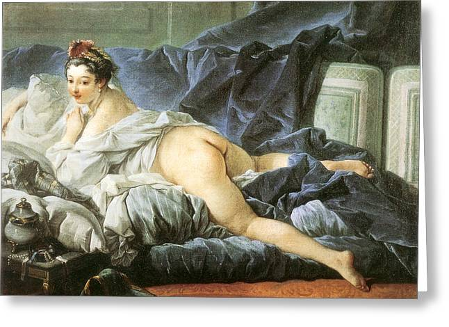Odalisque 1745 Greeting Card by Francois Boucher