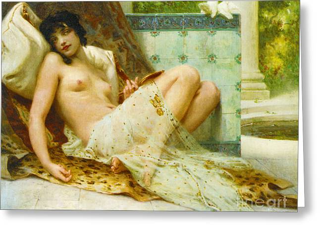 Odalisque Aux Colombes 1900 Greeting Card by Padre Art