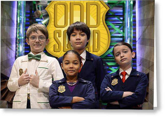 Odd Squad - Oscar, Ms.o, Otto, Olive Greeting Card by Odd Squad