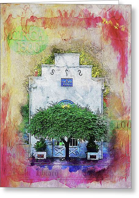 Oddfellows Library Building Greeting Card