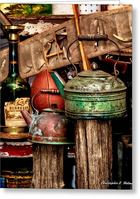 Flea Market Greeting Cards - Odds and Ends Greeting Card by Christopher Holmes