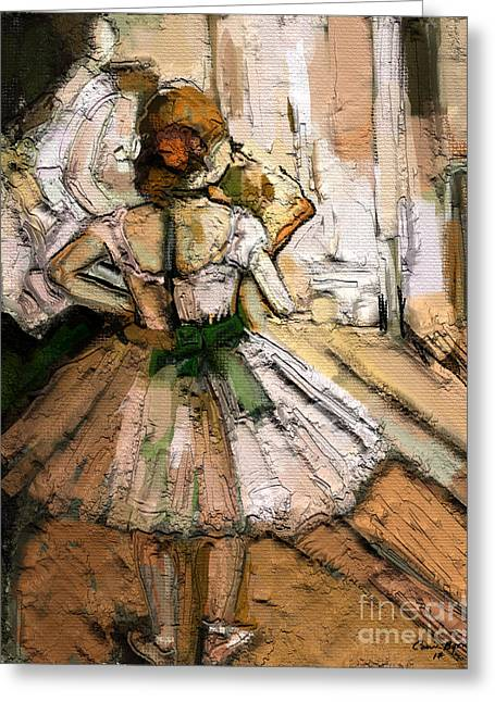 Ode To Degas Greeting Card