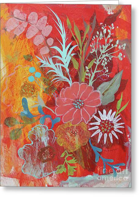 Greeting Card featuring the painting Ode To Spring by Robin Maria Pedrero