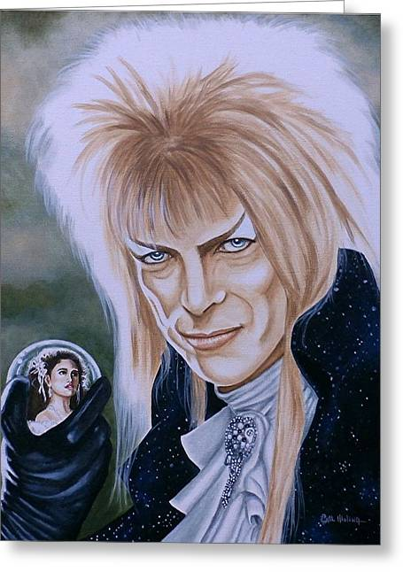Greeting Card featuring the painting Ode To The Goblin King by Al  Molina