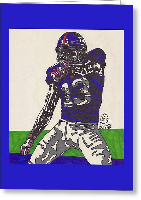 Odell Beckham Jr  Greeting Card by Jeremiah Colley