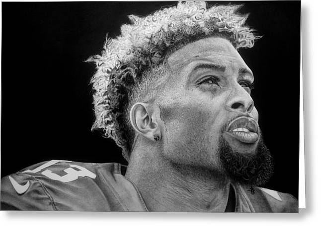 Odell Beckham Jr. Drawing Greeting Card