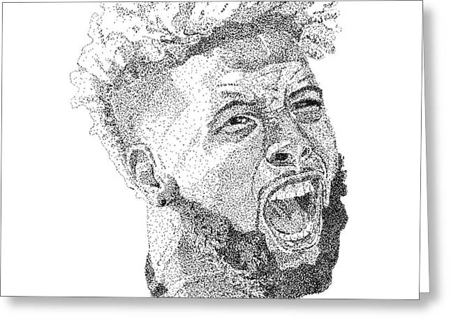 Odell beckham jr drawing by marcus price for Odell beckham jr coloring page
