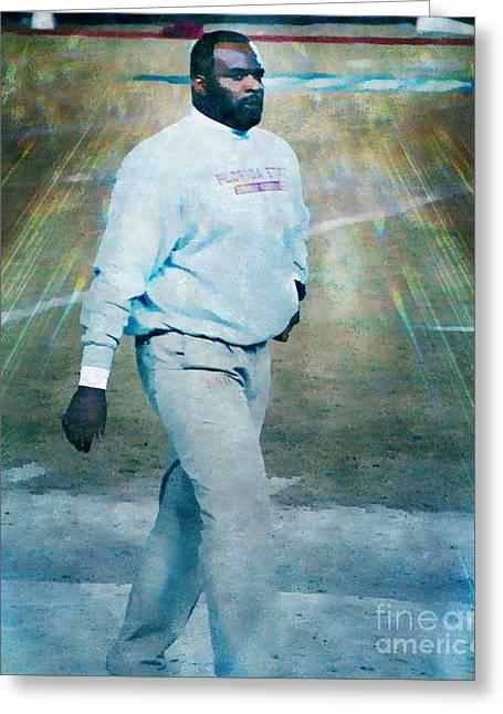 Odell Haggins Fsu Seminoles Greeting Card by Paul Wilford