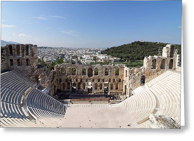 Odeon Of Herodes Atticus -- Ancient Amphitheater In Athens, Greece Greeting Card by Darin Volpe