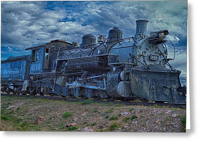 Old Engine  #499 - Royal Gorge Greeting Card