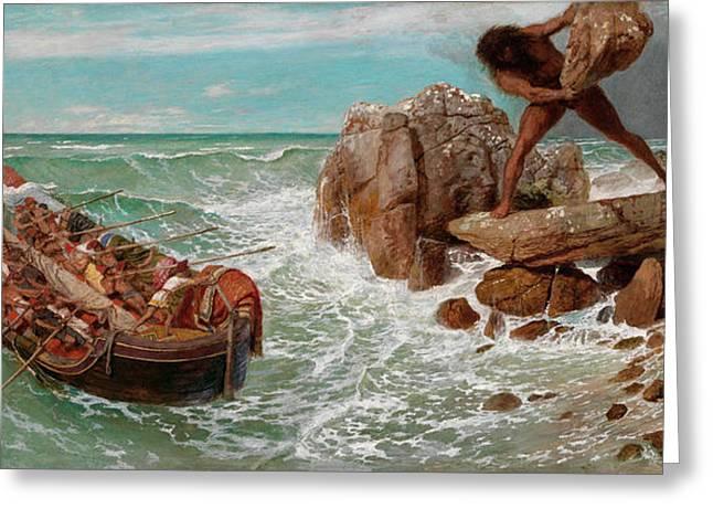 Odysseus And Polyphemus Greeting Card