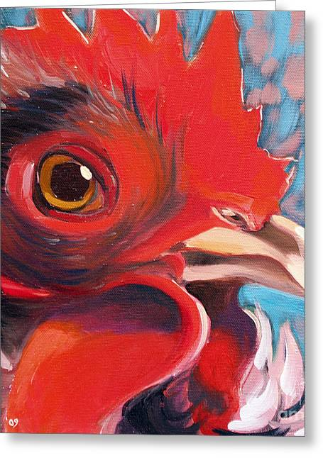 Oeil De Poulet Greeting Card by Sandra Smith-Dugan