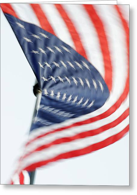 O'er The Land Of The Free -- American Flag At Faces Of Freedom Veterans Memorial, Atascadero, Califo Greeting Card
