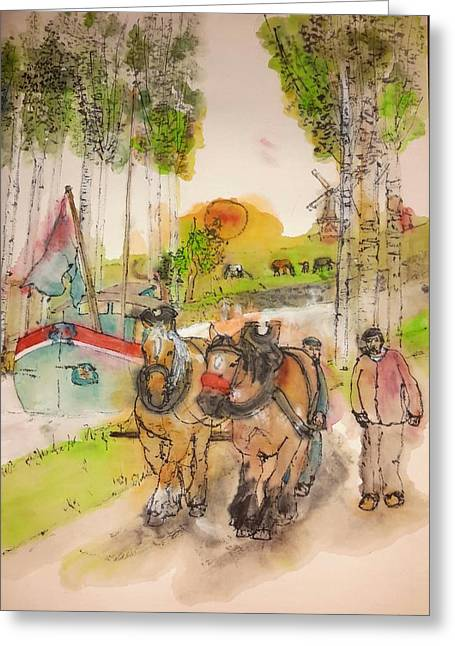 Of Clogs And Windmills Album  Greeting Card by Debbi Saccomanno Chan
