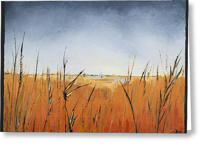 Of Grass And Seed Greeting Card by Carolyn Doe