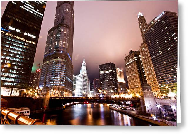 Wacker Drive Greeting Cards - Of Liquid And Steel Greeting Card by Daniel Chen