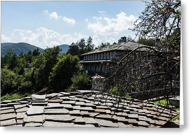 Of Slate Roofs And Gnarled Apple Trees Greeting Card
