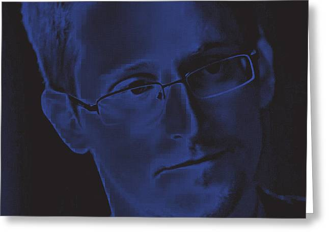 Of Snowden And The Nsa Only One Has Acted Unlawfully And Its Not Snowden Tnm 1/1 Greeting Card by Mark Van den dries