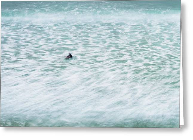 Off To Catch A Wave Greeting Card by Tony Higginson