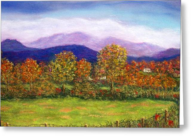 Pasture Scenes Pastels Greeting Cards - Off Island Ford Road Greeting Card by Sandy Hemmer