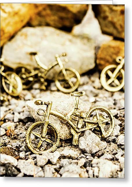 Off Road Bike Trinkets Greeting Card