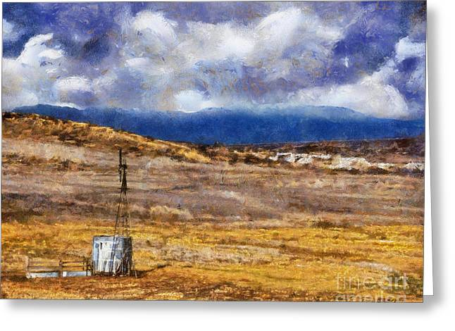 Greeting Card featuring the digital art Off The Beaten Path I by Rhonda Strickland