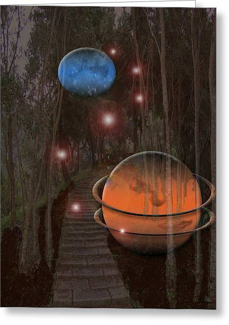 Off The Beaton Path Greeting Card by Andrea Lawrence