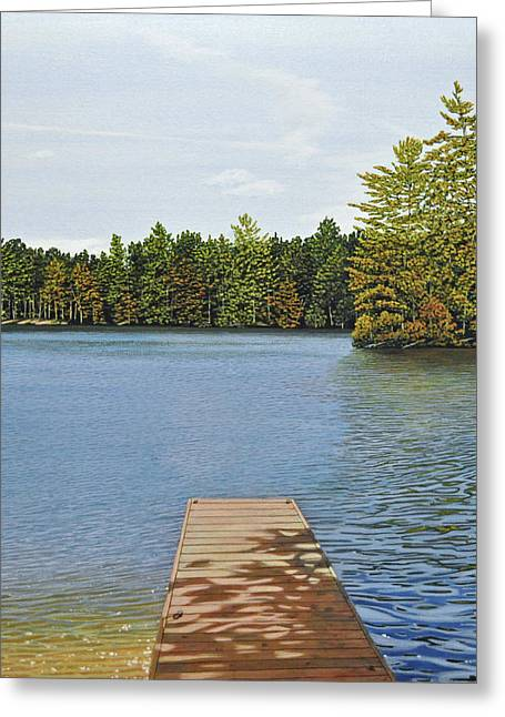 Off The Dock Greeting Card