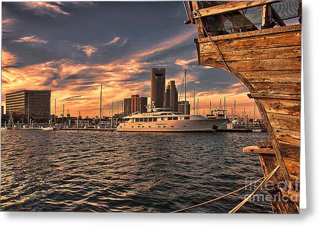 Off The Port Stern Greeting Card