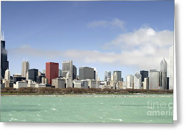Off The Shore Of Chicago Greeting Card