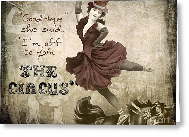 Off To Join The Circus Greeting Card by Mindy Sommers