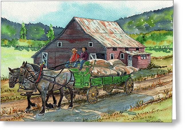Off To Market Greeting Card