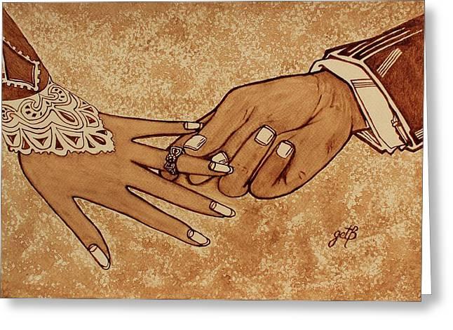 Offering Engagement Ring Greeting Card by Georgeta  Blanaru